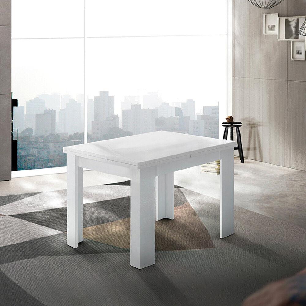 Mesa consola extensible blanca de diseño moderno Jesi Liber