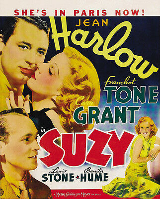 Jean Harlow Cary Grant movie poster print 2 1936 Suzy