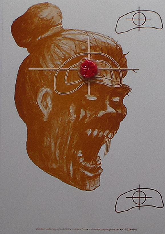 Bleeding Zombie Head Targets - 10x14 - 40 Qty (View Footage)