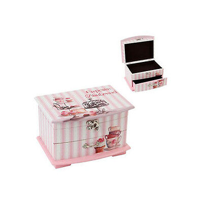 Wooden Jewellery Box with Single Drawer - Cupcake Boulevard