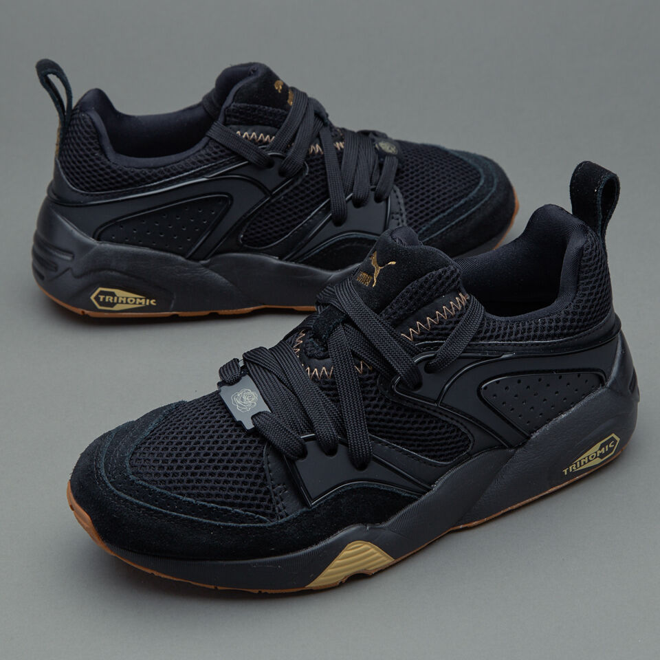 Puma Blaze of Glory BOG x Careaux Black gold Sneaker Men shoes 361419-01