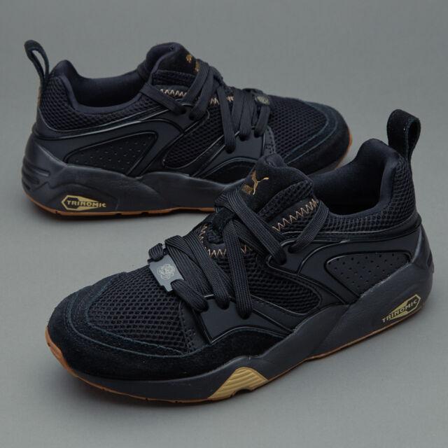 5d49eec8 Puma Blaze of Glory BOG x Careaux Black Gold Sneaker Men Shoes 361419-01