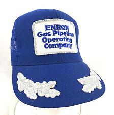 Enron Gas Pipeline Operating Company Snapback Trucker Hat Silver Leaf Mesh