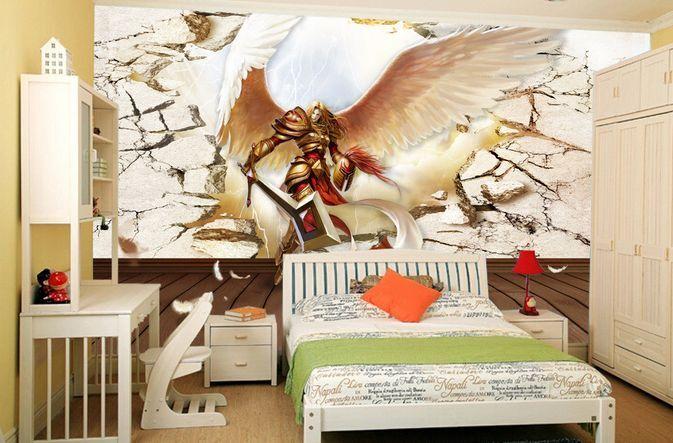 3D Enormi Ali 23 Parete Murale Carta da parati immagine sfondo muro stampa