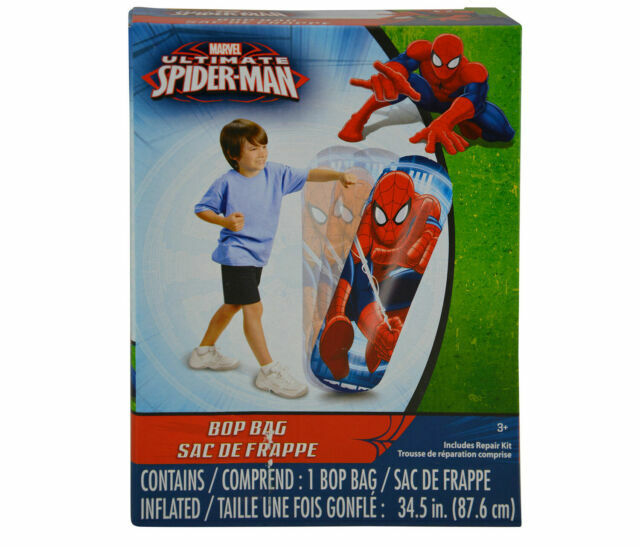 Spider-Man`36``Inflatable Bop Bag,Great For Indoor Use Or Out-:/>New-:/>Free To US