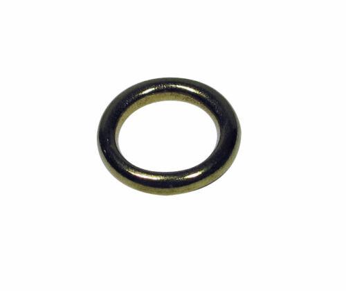 Hohlringe Raffhalterringe Beinringe messing Ringe für Raffhalter 11//16 mm 10 Stk