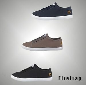 Mens-Firetrap-Casual-Lace-Up-Canvas-Trainers-Footwear-Sizes-UK-from-6-to-12