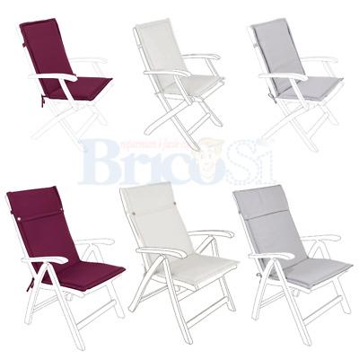 Cuscino per poltrona sedia sdraio in legno giardino idrorepellente sfoderabile | eBay