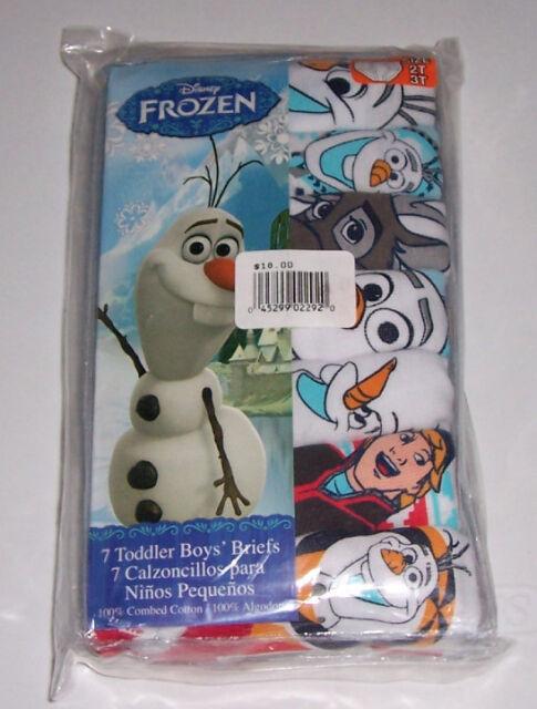 Frozen Olaf Sven Disney Kids 7 Cotton Brief Underwear Boys Size 2T 3T
