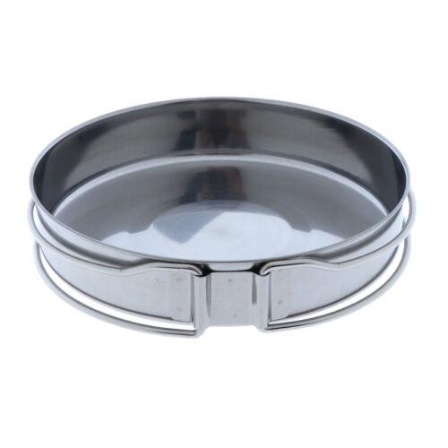 Portable Steel Frying Pan Outdoor Camping Folding Handle Pot Cookware 3cm