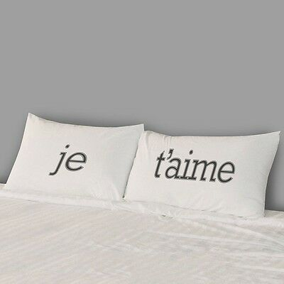 JE T'AIME Pillow-case Set I LOVE YOU French standard size