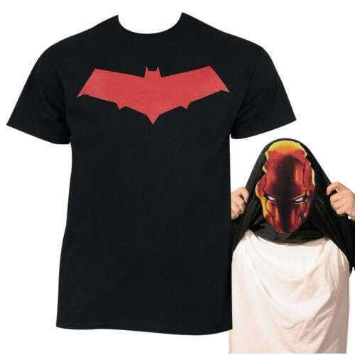 Batman Under the Red Hood Men/'s Flip Up T-Shirt Black
