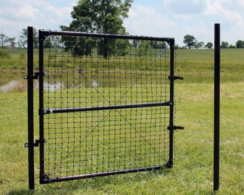 Various Widths 4.5/' High Dog Fence Access Gate For Animal Fencing