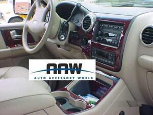Ford expedition 2wd 4wd xlt eddie bauer wood dash trim kit set 03 2004 2005 2006 ebay for 2005 ford expedition eddie bauer interior