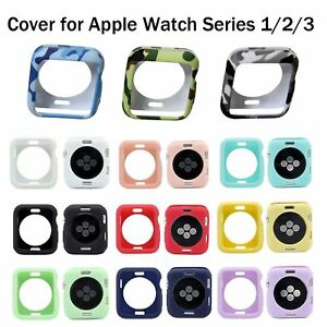 Camo TPU Cover For iWatch Apple Watch Series 3 2 1 38/42 Soft Silicone Gel Case