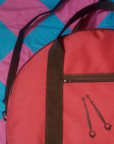 Lace Making Padded Round Pillow Bag Harlequin Lace Storage Shoulder Bag