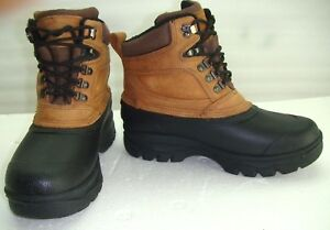 e31361563b8 Details about Donner Mercer Insulated Leather Rubber Winter Snow Duck Work  Boots Mens 9M