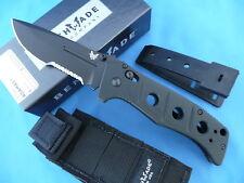 Benchmade Adamas Manual Folding Knife Balck Combo Edge Blade Black G10 275SBK