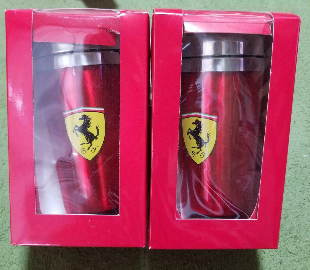 Origine Ferrari Thermo Mug tumbler Rouge Lot de 2 Marlbor Prize PROMOTION Cadeau