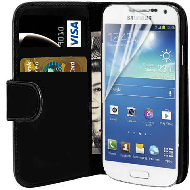 super popular a3f5d 50ab9 HIGH QUALITY FLIP LEATHER WALLET COVER CASE FOR SAMSUNG GALAXY S4 & S4 MINI