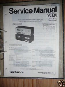 service manual for technics rs m6 tape deck original ebay rh ebay com oracle m6-32 service manual omron m6 comfort service manual