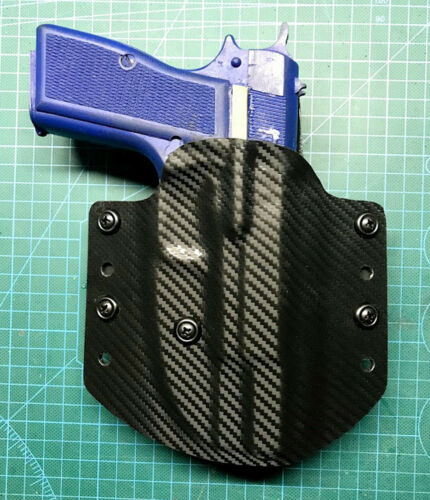 VLTactical Kydex OWB Holster for For Browning Hi-Power with Leather Inside