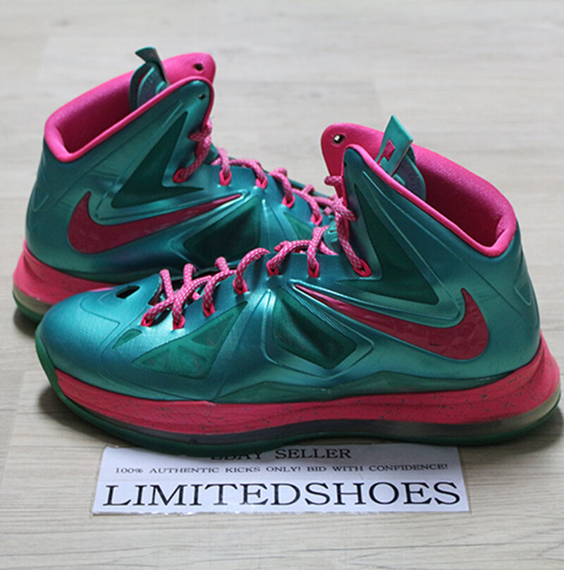 NIKE LEBRON X 10 ID DIAMOND COLLECTION EMERALD PINK 578346-992 US 11 bhm prism