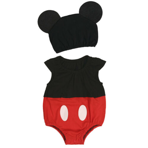 Newborn Baby Cartoon Mouse Costume Girl Romper Dress Bodysuit Boys Party Clothes