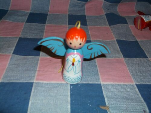 "Beautiful Wood Christmas Ornament Angels 2 3//8/"" High  Use Drop Box Chose ksm"
