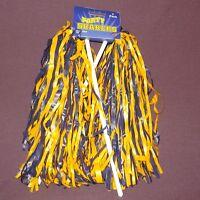 Beistle Football Cheerleader Party Shaker Pom Pom 2pc Blue Yellow