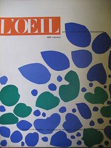 Magazine-Art-L-039-Oeil-No-No-58-of-1959-Emperor-Maximilian-Gauguin-Aesthetic-Chick