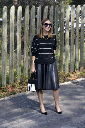 in minigonna nera S small similpelle in Bloggers Zara 5vqxwEHT