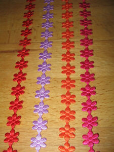 3m-Dekoband-Stoffband-Landhaus-Shabby-Blumenband-Blume-Band-Pink-Lila-Rot