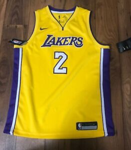 finest selection 587c1 6f3b6 Details about Los Angeles Lakers Lonzo Ball #2 NBA Nike Jersey Purple Kid's  Youth Large 14/16