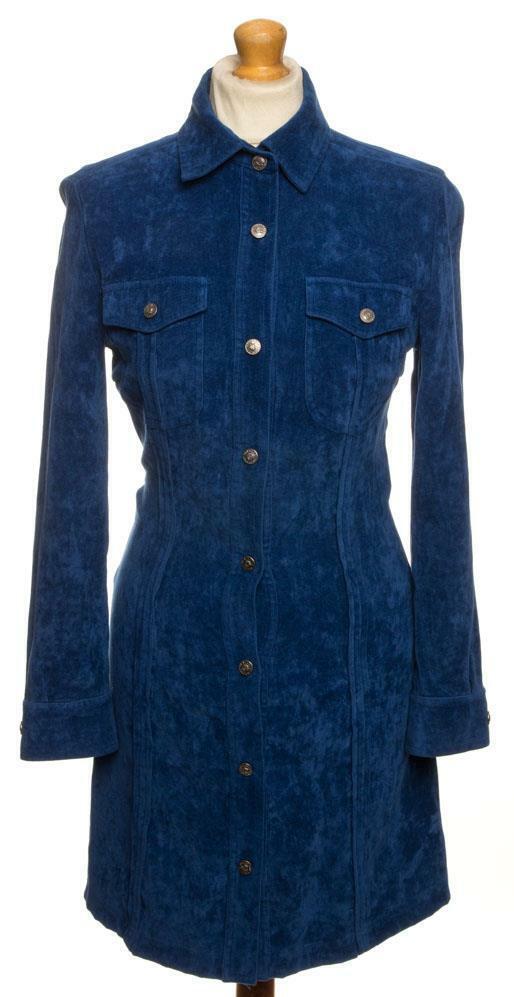 Vintage  27.4ms Versace Terciopelo Vestido Reino Unido 8 NOS 6 Eu 34 Fr 36 i 40  precio mas barato