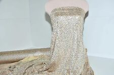 LYCRA SPANDEX NUDE/SILVER SEQUINS STRETCH BTY DANCE FORMAL COSTUME ICE SKATE