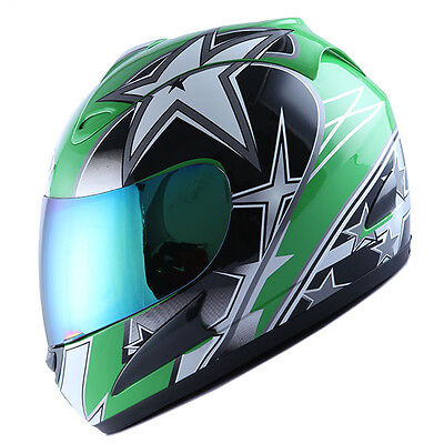 BRAND NEW DOT WOW MOTORCYCLE STREET BIKE FULL FACE HELMET RACING STAR