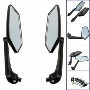 Universal-Motorradspiegel-Rueckspiegel-Schwarz-M8-M10-mit-Rechtsgewinde-Roller