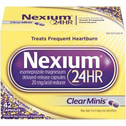 Nexium 24HR Clear Mini Delayed Release Heartburn Relief Capsules, 42 Count 1