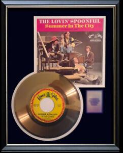LOVIN SPOONFUL SUMMER IN THE CITY 45 RPM GOLD METALIZED RECORD RARE NON RIAA