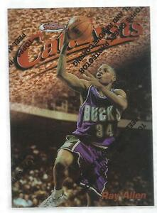 1997-98-Topps-Finest-Basketball-Ray-Allen-034-Catalysts-034-Refractor-Card-18-C30