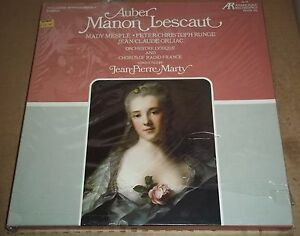 Marty-Mesple-Runge-Orliac-AUBER-Manon-Lescaut-Arabesque-8059-3L-SEALED