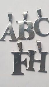 Letra del alfabeto inicial plateado plata del encanto del Colgantes  </span>