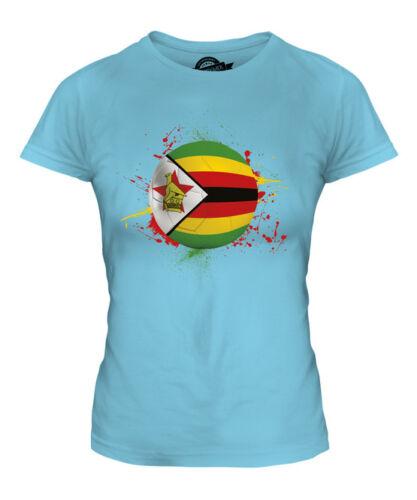 ZIMBABWE FOOTBALL LADIES T-SHIRT TEE TOP GIFT WORLD CUP SPORT
