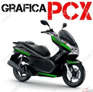 STICKER-KITS-FOR-FAIRING-SPECIFIC-HONDA-PCX-125-150-RACING-VERDE-GRAPHICS