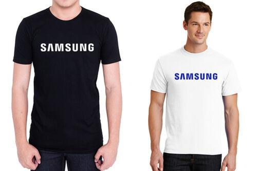 SAMSUNG MOBILE 100/% cotton men black white t-shirt personalized tee short sleeve