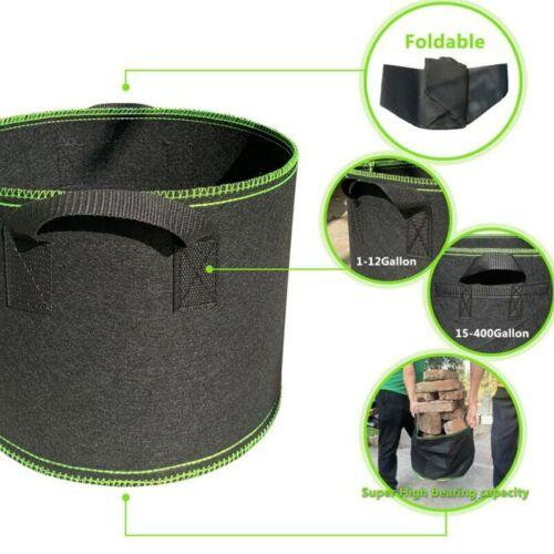 1-20 gallon Tree Pots plant Grow Bags growing bags garden seeds tools fabric pot