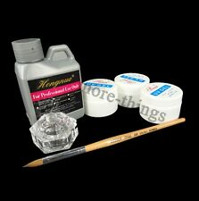 Acrylique Liquid poudre Dappen Pen brosse ? vaisselle ongles Art kit Set #434