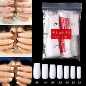 500pcs-Full-French-False-Nail-Art-Tips-Acrylic-UV-Gel-Manicure-Salon-Fake-Nails