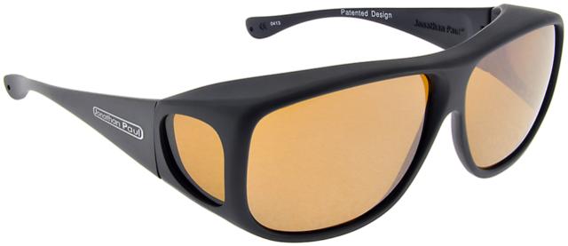 d848ccaf6d New JONATHAN PAUL Polarized Sunglasses Fitovers Aviator Black AV001Y Extra  Large